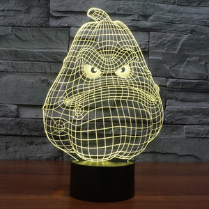 Pumpkin Pattern Colorful 3D Led Lamp - Goamiroo Store