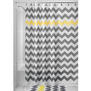 Chevron Fabric Shower Curtain - 4 Colors - Goamiroo Store