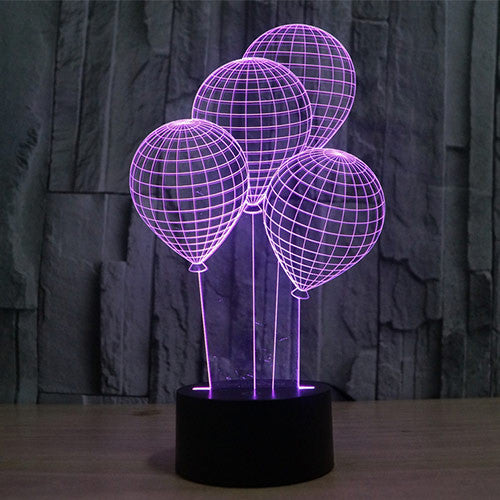 Balloon Pattern Colorful 3D LED Lamp