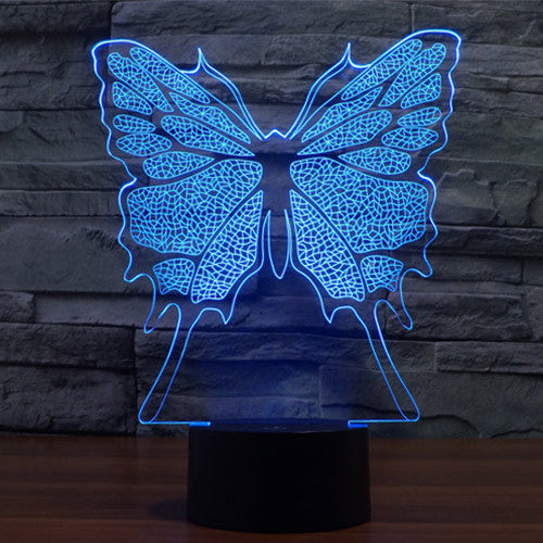 Butterfly Pattern Colorful 3D LED Lamp