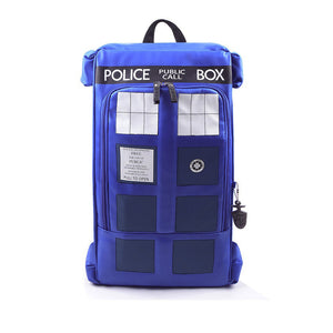 Doctor Who Tardis Pu Leather Camping Backpack - Goamiroo Store