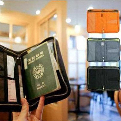 Travel Passport Wallet Folder
