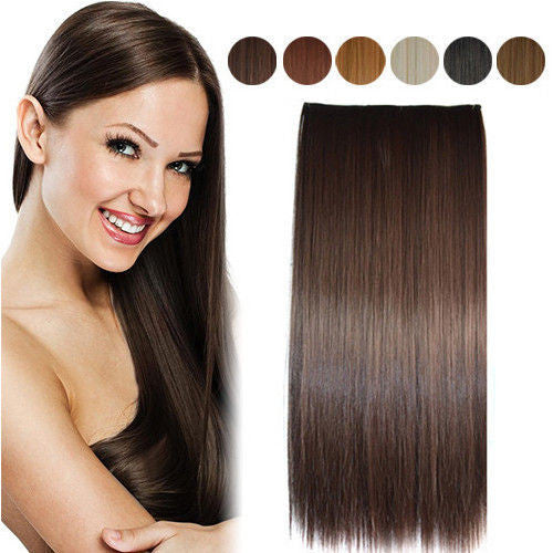 Straight Clip-On Hair Extensions