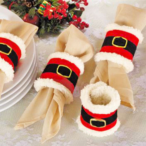Set of 4 Santa's Napkin Bands