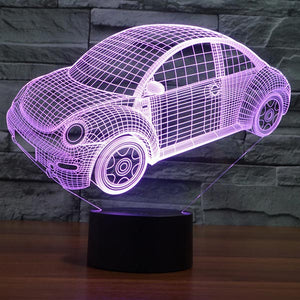 Car Pattern Colorful 3D Led Lamp - Goamiroo Store