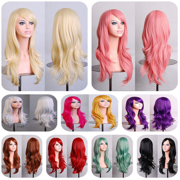Heat Resistant Female Curly Wig-10 Colors-GoAmiroo Store