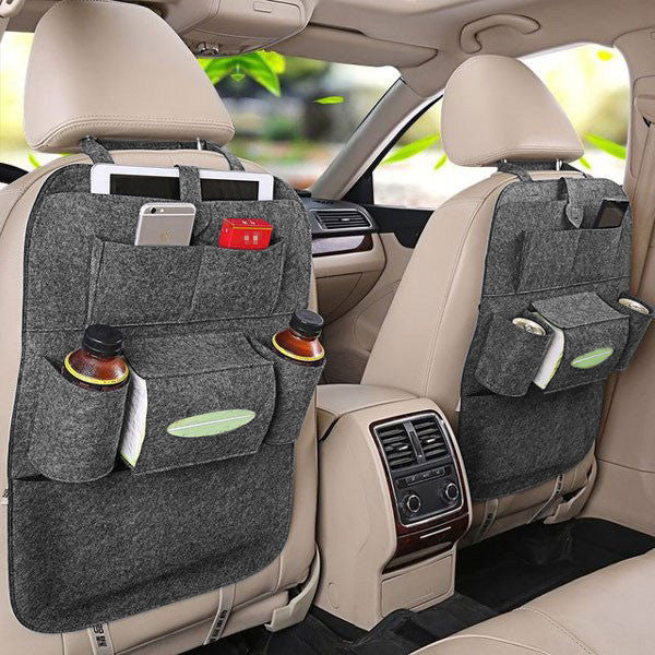 a Set of 2 Felt Car Back Organizers-GoAmiroo Store
