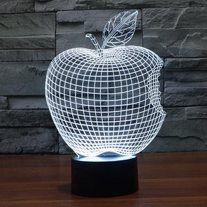 Bitten Apple Colorful 3D Led Lamp - Goamiroo Store