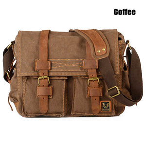 Mens Vintage Canvas Shoulder Bag - Goamiroo Store