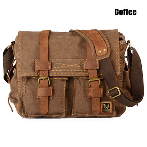Men's Vintage Canvas Shoulder Bag