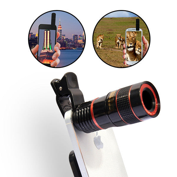 8x Zoom Universal Smartphone Lens with Tripod Set