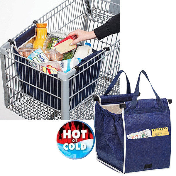 Insulated Clip-to-Cart Shopping Bag