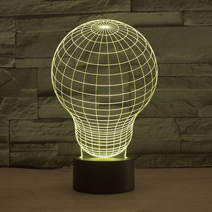 Lightbulb Pattern Colorful 3D Led Lamp - Goamiroo Store