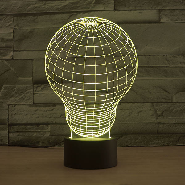 Lightbulb Pattern Colorful 3D LED Lamp