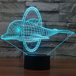 New Dolphin Pattern Colorful 3D Led Lamp - Goamiroo Store