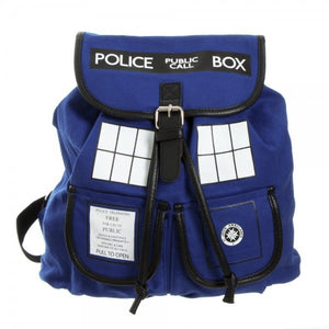 Doctor Who Tardis Canvas Backpack With One Buckles - Goamiroo Store
