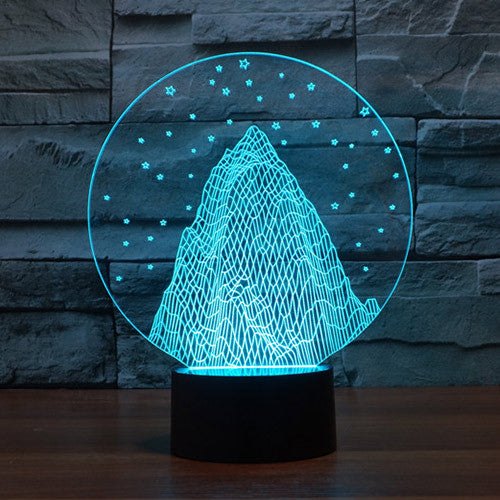 Snow Mountain Colorful 3D LED Lamp