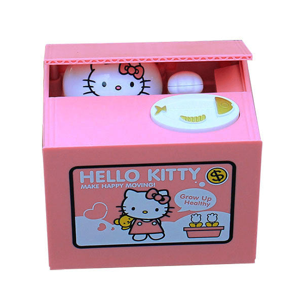 Stealing Coin Hello Kitty Bank