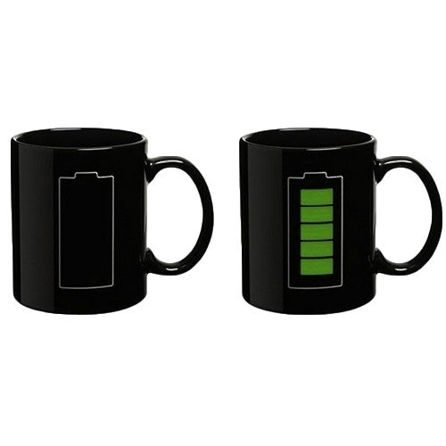 Battery Color Changing Thermometer Mug