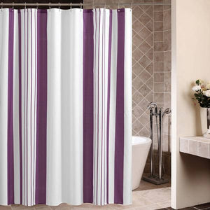 Vertical Stripes Fabric Shower Curtain - Goamiroo Store