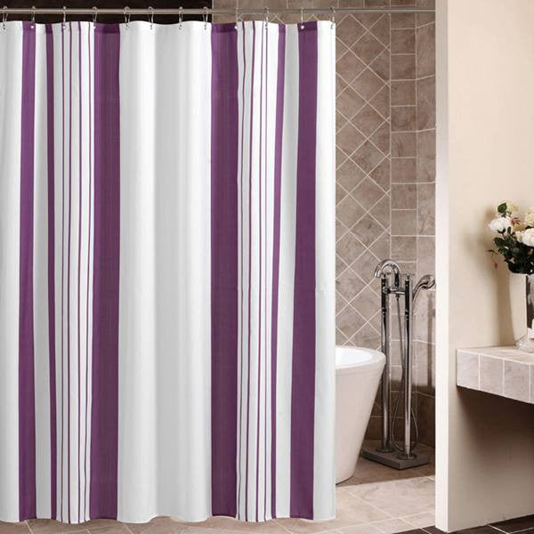 Vertical Stripes Fabric Shower Curtain