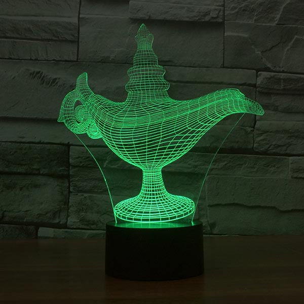 Wonderful Lamp Pattern Colorful 3D LED Lamp-GoAmiroo Store