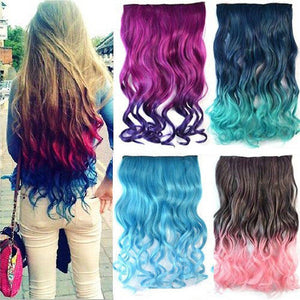 Wavy Clip In Hair Extensions-9 Colorsh - Goamiroo Store