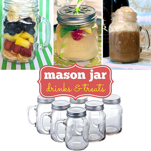 Set of 2 Mason Jar Cups