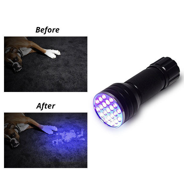 21 LED UV Flashlight - Pets Urine Stains Detector