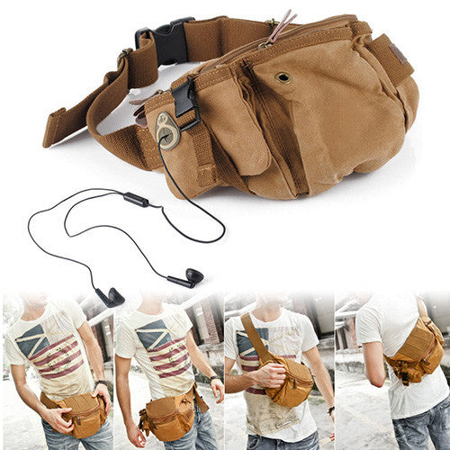 Multi-Functional Canvas Portable Sling Bag