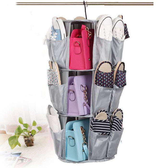 3-Tier Smart Carousel Organizer