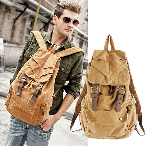 Retro Canvas Backpack - 5 Styles