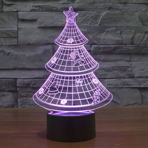 Christmas Tree Colorful 3D Led Lamp - Goamiroo Store