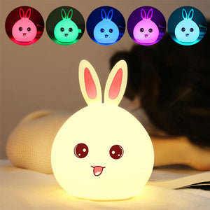 Rechargeable Colorful Rabbit Night Light - Goamiroo Store