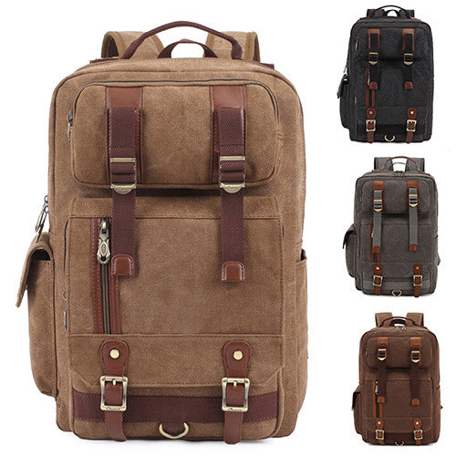 KAUKKO Men's Canvas Travel Backpacks