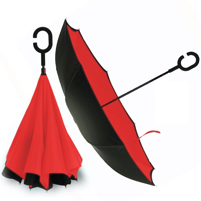 Convenient Umbrella 2-Layer Reversible with C-handle