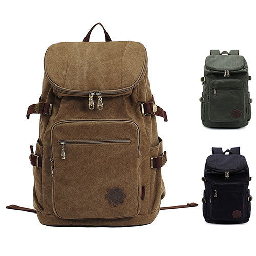 KAUKKO Unisex Canvas Backpack