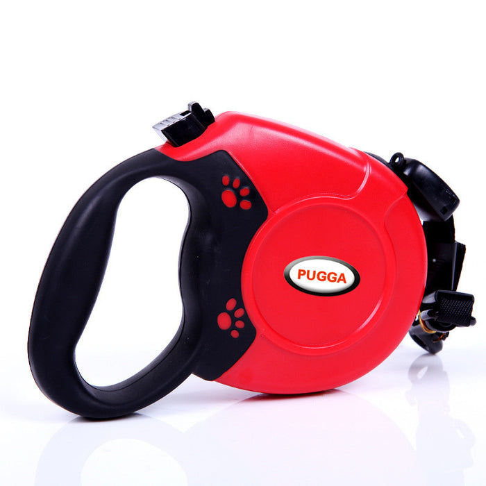 Retractable Dog Leash 16 Feet One Button Lock Comfortable Ergonomic Hand Grip