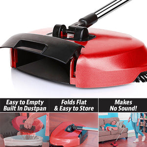 Floor Sweeper With Rotating Brushes-GoAmiroo Store