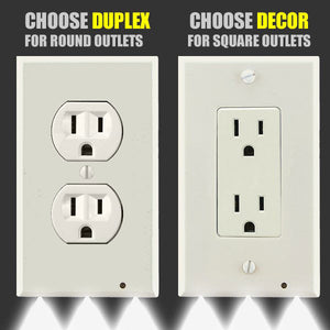 Set Of 2 Outlet Coverplate Night Lights - Goamiroo Store