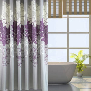 Floral Printed Fabric Shower Curtain - Goamiroo Store