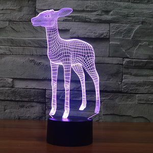 Deer Pattern Colorful 3D Led Lamp - Goamiroo Store
