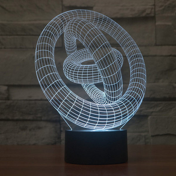 Saturn Rings Pattern 3D LED Lamp-GoAmiroo Store