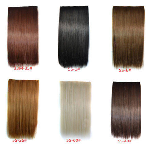 Straight Clip-On Hair Extensions-GoAmiroo Store