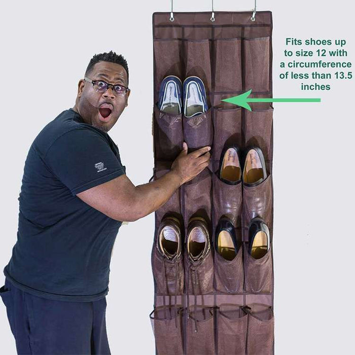24 Pockets Over-the-Door Shoe Organizer