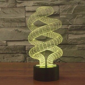 Spiral Style Colorful 3D Led Lamp - Goamiroo Store