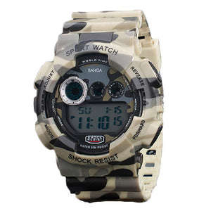 Camouflage Style Waterproof Digital Watches - Goamiroo Store