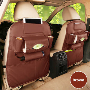 A Set Of 2 Pu Leather Backseat Organizers - Goamiroo Store