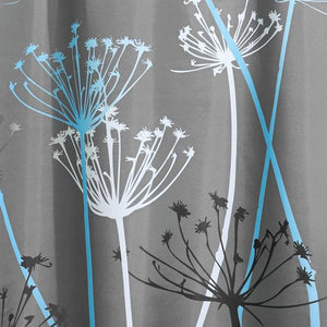 Fabric Shower Curtain - Grey And Blue - Goamiroo Store