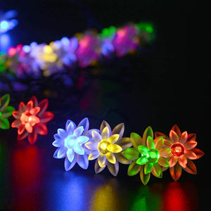 Lotus Shaped Solar Outdoor String Lights - Goamiroo Store